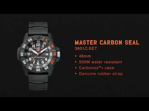 Master Carbon SEAL, 46 mm, Military Watch / Diver Watch - XS.3801.C.SET