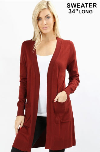 Medium Length Cardigan