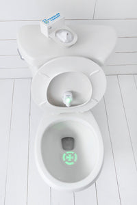 Toddler Target is a potty training dream! No mess, no stress, easy and fun for all ages! Designed to help your toddler with his aim game, Toddler Target is the latest in potty training tech for day or night. Offering a fully adjustable design to fit any toilet. It is durable and made of high quality materials that will withstand any surface cleaning agent! Comes with high quality batteries already installed, easy to remove and change if needed. If offers an additional nightlight feature with a brilliant glo