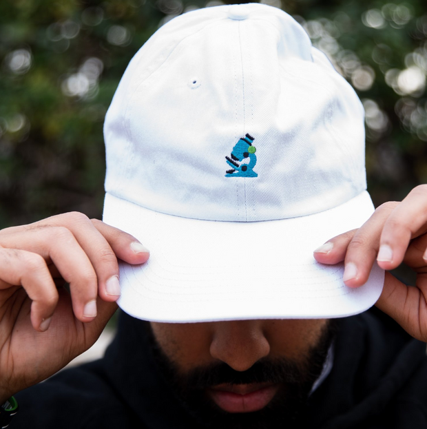 Microscope Dad Hat (White) - In The Lab