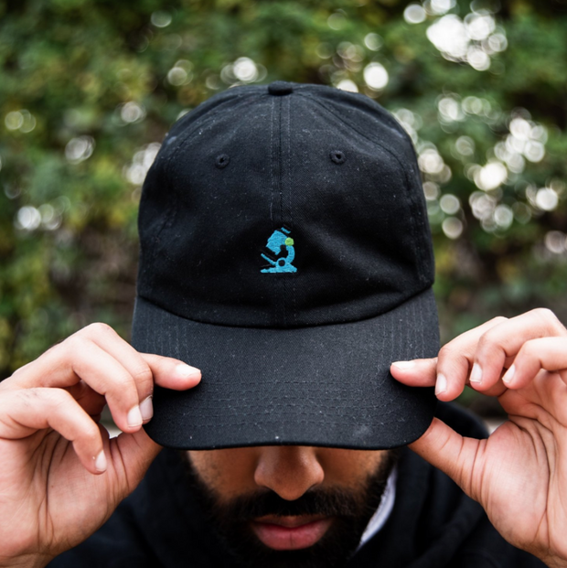 Microscope Dad Hat (White/Black)