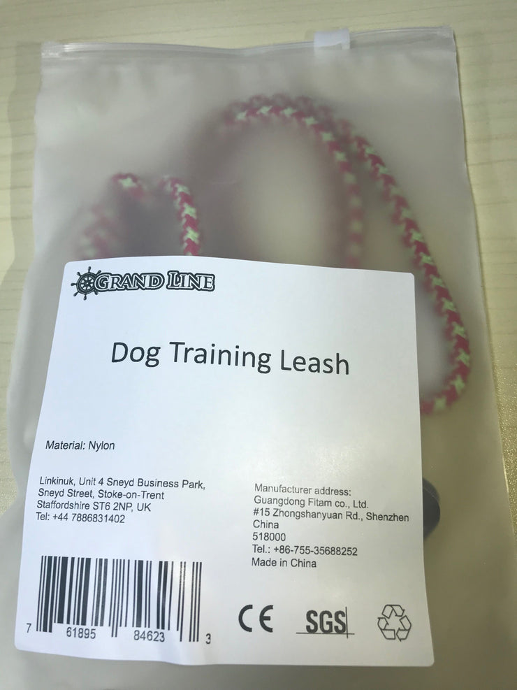 Grand Line Dog Leash for Training Walking Rope Slip Lead for Small, Medium Dogs and Cats - 1.5m Long, Red
