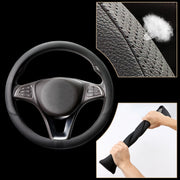 COFIT Breathable and Non Slip Microfiber Leather Steering Wheel Cover Universal - Black