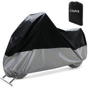 COFIT Motorcycle Cover, Waterproof Motorbike Cover Anti Wind Dust UV Rain Moisture Snow Protection with Lock holes - XL/XXL