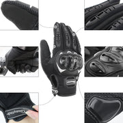COFIT Motorbike Gloves, Full Finger Touchscreen Gloves for Motorcycle and Other Outdoor Sports - XL