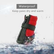 Grand Line Dog Boots Waterproof Pet Paw Protector with Wear-Resistant and Anti-Slip Sole Set of 4