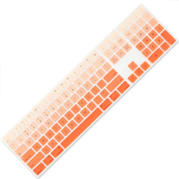All-inside Ombre Keyboard Cover for Apple iMac Magic Keyboard with Numeric Keypad MQ052LL/A A1843 US Layout