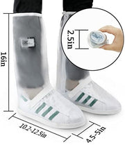 Grand Line Waterproof Reusable Warm Rain Shoe Covers with Anti-Dirty Full Protection Overshoes Designed for Men and Women