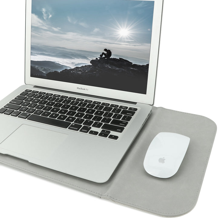 "Allinside 13-13.3"" Laptop Sleeve for MacBook Air 13""/ MacBook Pro 13"" Retina, Synthetic Leather, Gray"