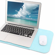 "Allinside Blue Synthetic Leather Sleeve for MacBook Air 11"" MacBook 12"""