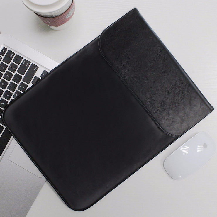 "Allinside Black Synthetic Leather Sleeve for MacBook Air 11"" MacBook 12"""
