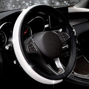 COFIT Crystal Steering Wheel Cover, Diamond Like, Microfiber Leather, Fashionable, Universal