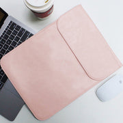 "Allinside Synthetic Leather Laptop Sleeve Case for MacBook Air 13"", MacBook Pro 13"" Retina, 13-13.3"" Notebook, Pink"