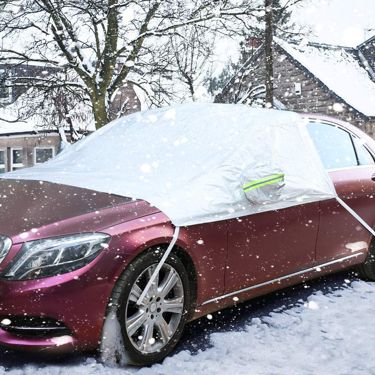 COFIT Car Windshield Snow Cover, Windscreen Sunshade, Ice and Frost Protector with Mirror Covers