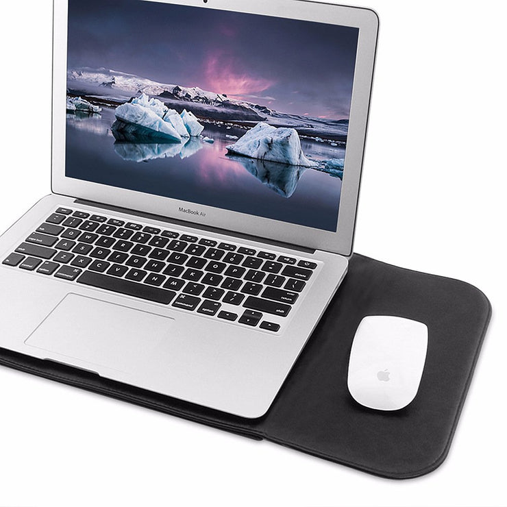 "Allinside Black Synthetic Leather Sleeve for MacBook Air 13"" Pro 13"" with/without Retina and New MacBook Pro 13 with/without Touch Bar"