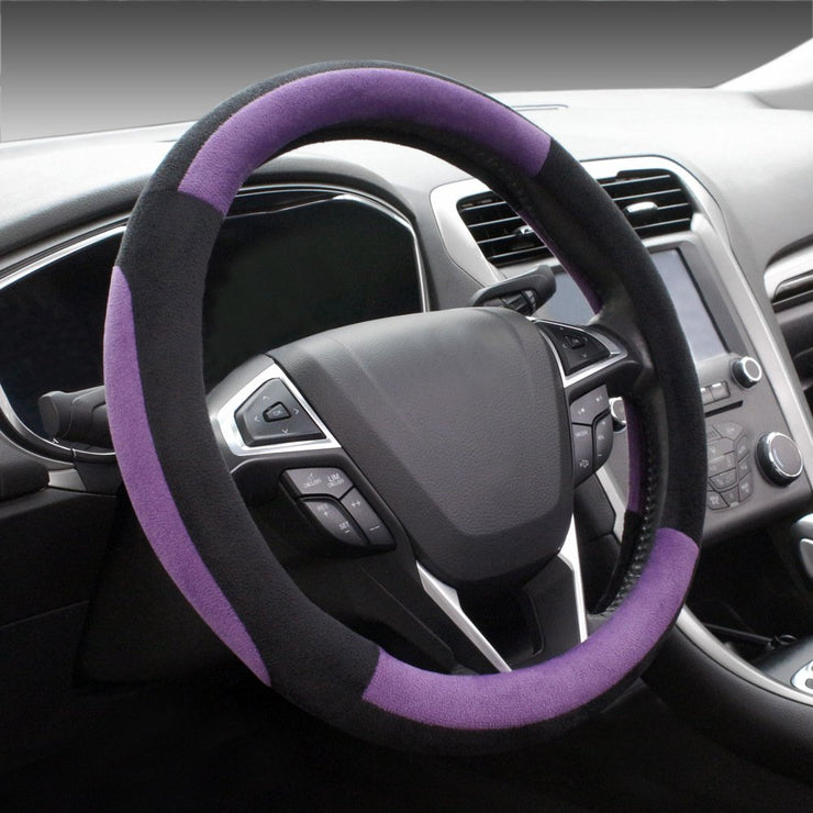 COFIT Plush Pink Steering Wheel Cover Universal Fit 38cm