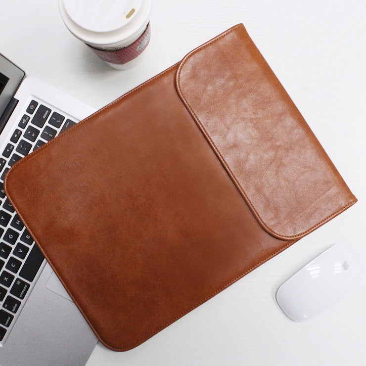 "Allinside Brown Synthetic Leather Sleeve for Macbook Pro 15"" with/without Retina and New MacBook Pro 15"" with Touch Bar"