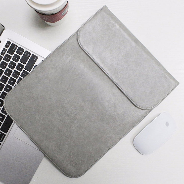 "Allinside Gray Synthetic Leather Sleeve for Macbook Air 11"" MacBook 12"""