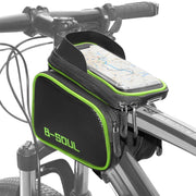 Cofit 3 In 1 Large Capacity Bike Handlebar Frame Bag Suitable for Smart Cellphones below 7.1 Inch