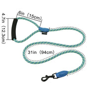 Grand Line Nylon Dog Leash Rope with Comfortable Padded Handle for Small, Medium, Large Dogs - 5ft Long