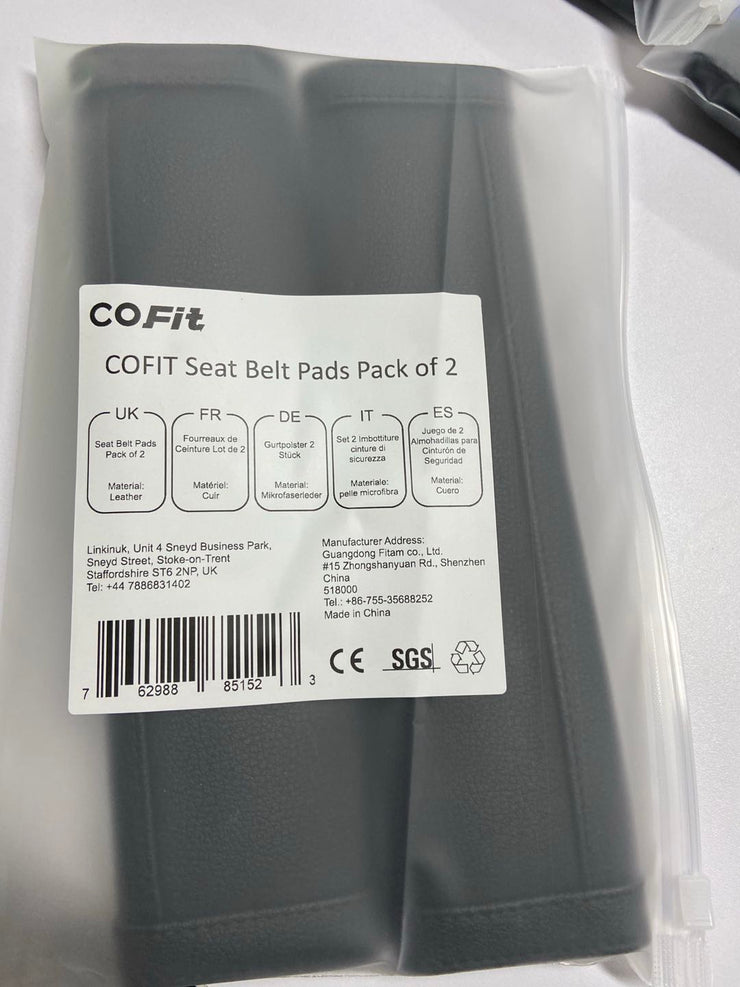 COFIT Car Seat Belt Pads Pack of 2