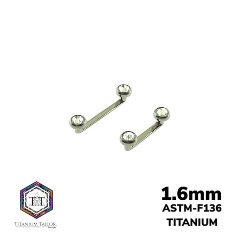 Classic Flat Surface Bar 1.6mm - Titanium Tailor Body Jewellery