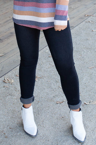 Black Thermal Denim Judy Blue Skinnies