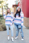 Oceanside Cold Shoulder Thumbhole Hoodie