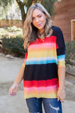 Rainbow In the Night Short Sleeve Top