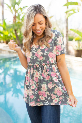 Flirty Floral Short Sleeve Top