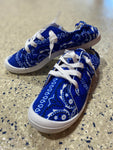 New Edition Lace Up Sneakers In Bandana Blue - M & H