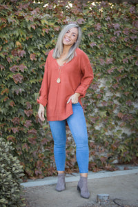 Terracotta Sweater Tunic