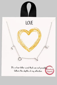 Love At The End Of The Day Necklace - M & H