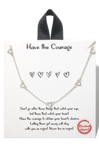 Hearts and Chains Necklace - M & H