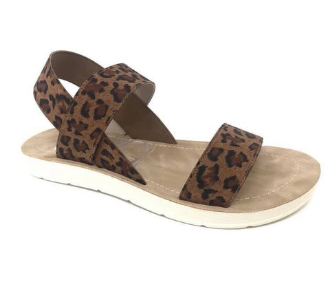Ella Sandal in Leopard and Tie Dye  - M & H