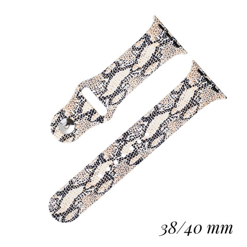 Snakeskin Silicone Smart Watch Band - M & H