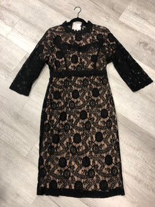 Black Lacey Dress - LARGE ONLY