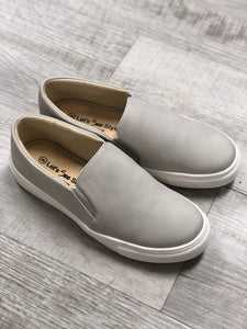 Grey Slide On Flats With Memory Foam - M and H