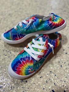 New Addition Lace Up Sneakers - Tie Dye