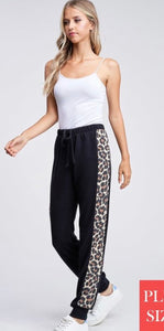 Black and Leopard Lounge Pant - M & H