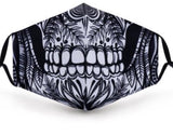 Decorative Skull Washable Face Covering with PM2.5 Filter