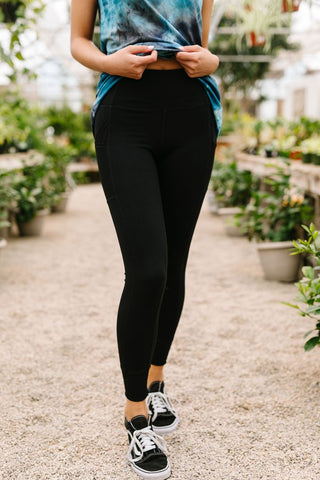Working From Home Athletic Leggings - M & H