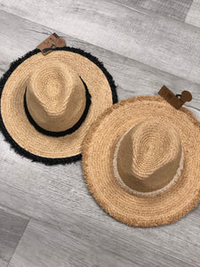 CC Brand Sun Hat with Straw Brim