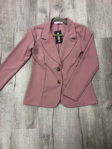 Pink Blazer With Buttons