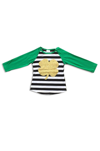 Kids Glitter Shamrock Top