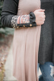 Life Of The Party Sleeveless Cardigan In Shimmering Mauve - M & H