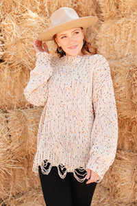 Dusted With Colors in Cream - Size XS Only - M & H