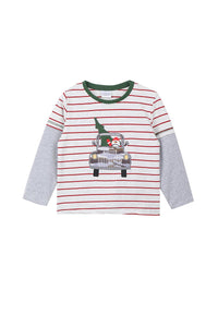 Santa Stripe Shirt - M & H Littles