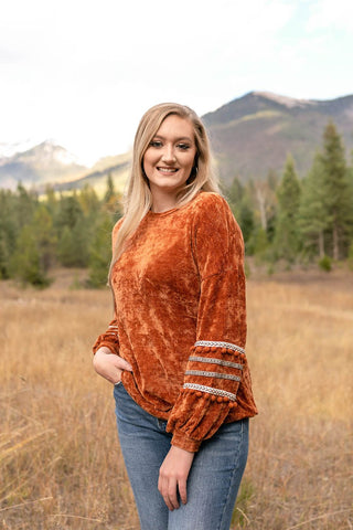 I'll Be Seeing You Sweater In Copper - Only Size Small - M & H