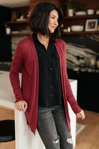Million Dollar Marsala Cardigan